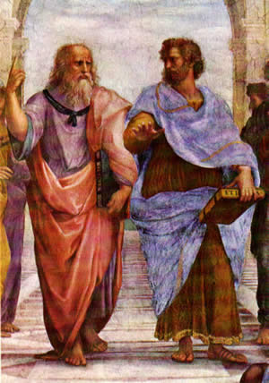 Plato and Aristotle are featured in Raphael's The School of Athens (c. 1510)