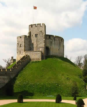 Motte-and-bailey castle in West Sussex, England